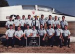 This was our Flight's official picture at OTS, taken in front of a T-38 static display; I'm second from the left in the front row.