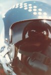 The canopy bow of the F-4E is reflected here in my helmet visor.