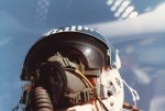 This is a very good photo of my helmet's reflection on the canopy above me.