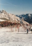 The cafe was as popular a spot to be as the slopes were, and everyone enjoyed a sunny afternoon on the Zugspitze.