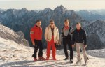 Another group photo on a beautiful sunny and crystal clear day in the Alps - with me again on the right.