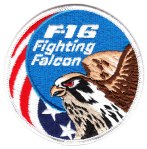 "The basic F-16 ""Fighting Falcon"" patch."