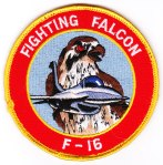 "Another version of the F-16 ""Fighting Falcon"" patch."