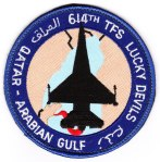 "I flew with the 614th TFS ""Lucky Devils"" in their F-16D during the Gulf War - and here is a version of their squadron patch."