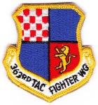 "The 363rd Tactical Fighter Wing patch from Shaw AFB, SC - the 10th TFS was part of the ""363rd Wing Deployed"" during the Gulf War."
