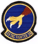 "The 33rd TFS ""Falcons"" squadron patch from the ""363rd Wing Deployed."""