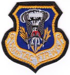 "The 50th Tactical Fighter Wing patch at Hahn Air Base (AB), Germany, with the ""leather"" backing."