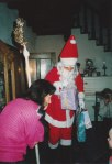 """The tradition in Germany is for children to polish their boots and leave them on the doorstep, and in the morning they find gifts from St. Nicholas in them - but since this was """"Americanized"""" - St. Nicholas brought gift bags for David and his little cousin."""