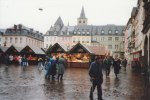 The size of Trier's central market area even dwarfs the Christmas Market - as my wife and her parents stroll across the square in the middle of this picture - it would be improbable to fill up the entire square with vendor booths.