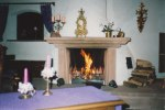 We used to all enjoy a fire in the fireplace in Bruch once the fall chill arrived - and while this picture was taken in December 1990, the following two photographs are undated, but were taken around the same time frame during Advent and the Christmas season.
