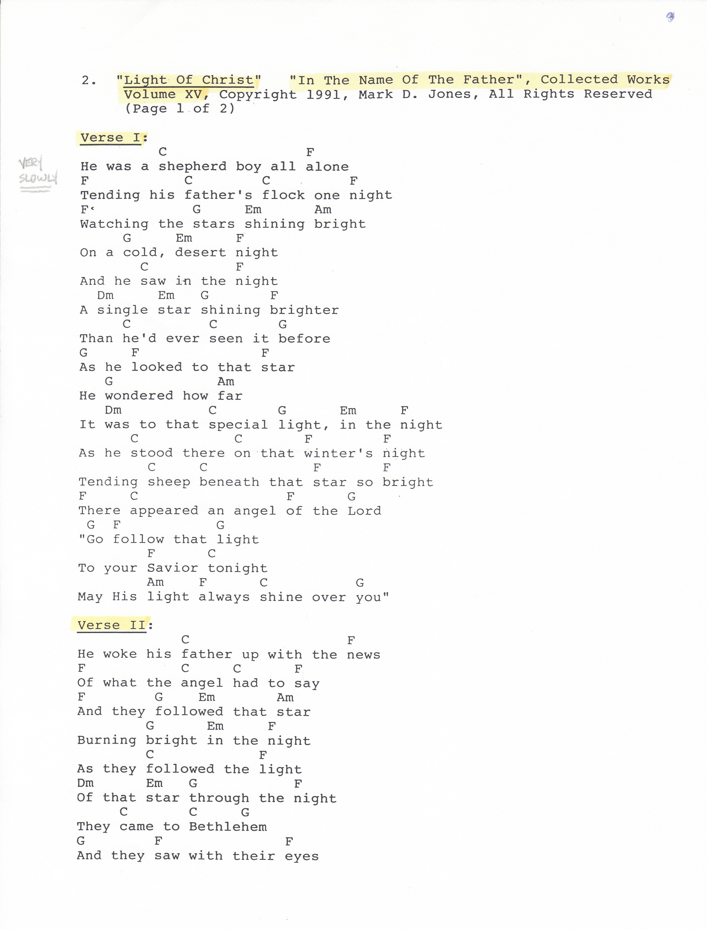 Original song light of christ life love and the human condition light of christ pg 1 in the name of the hexwebz Image collections