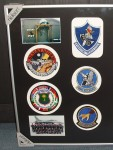 "The ""Vipers Pit"" photo; F-16 Desert Storm and Desert Shield patches; the 10th TFS squadron photo (I'm on the far left of the middle row); and the 10th TFS, 17th TFS and 33rd TFS squadron patches."