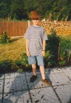 David was now nine years old and he really liked his leather Aussie cowboy hat - and was quickly growing up into a fine young man!