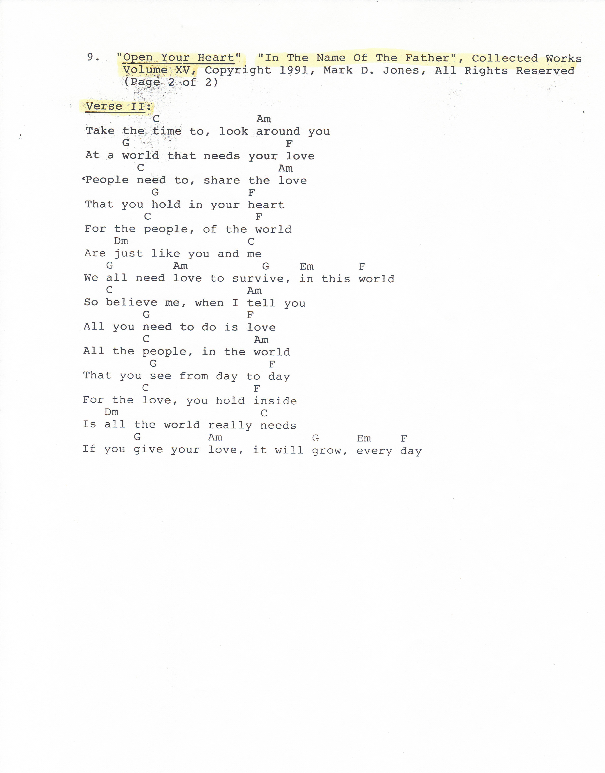 Original song open your heart life love and the human condition your heart 2 of 2 in the name of hexwebz Images